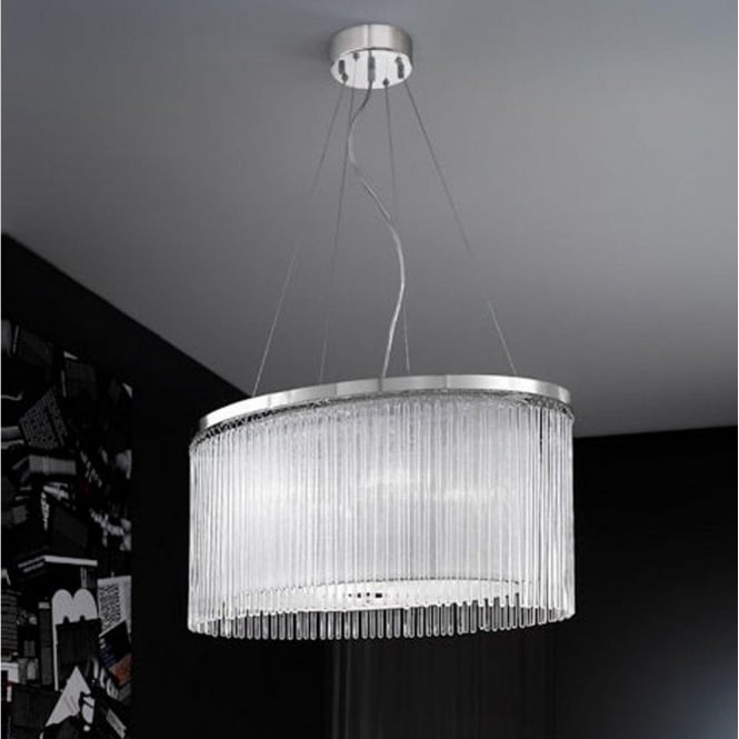 Franklite FL2192/4 Eros 4 Light Ceiling Pendant Polished Chrome