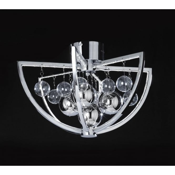 Endon MUNI-CH-F Muni LED Ceiling Light Polished Chrome