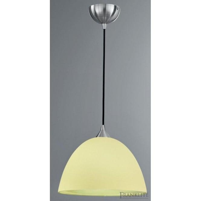 Franklite FL2290/1/941 Vetross 1 Light Ceiling Pendant White/Lime