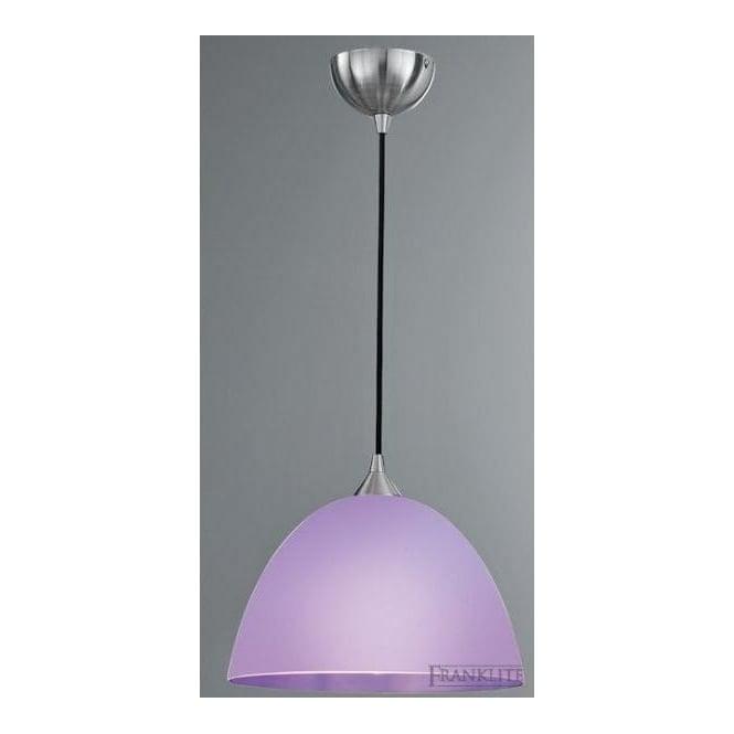 Franklite FL2290/1/950 Vetross 1 Light Ceiling Pendant White/Lilac