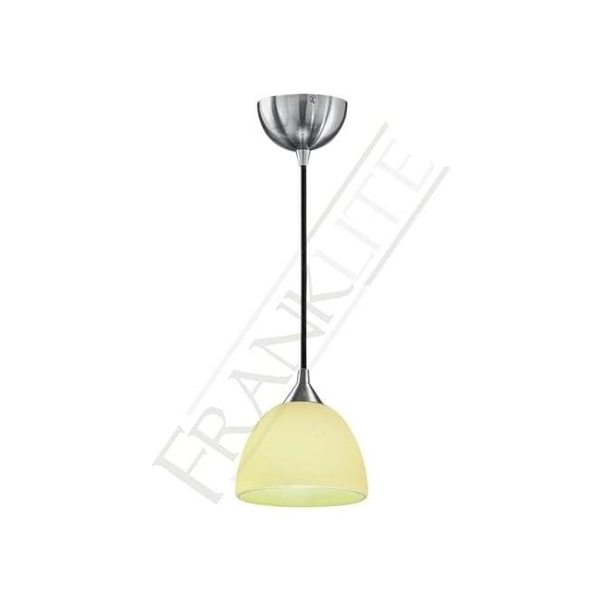 Franklite FL2290/1/940 Vetross 1 Light Ceiling Pendant White/Lime