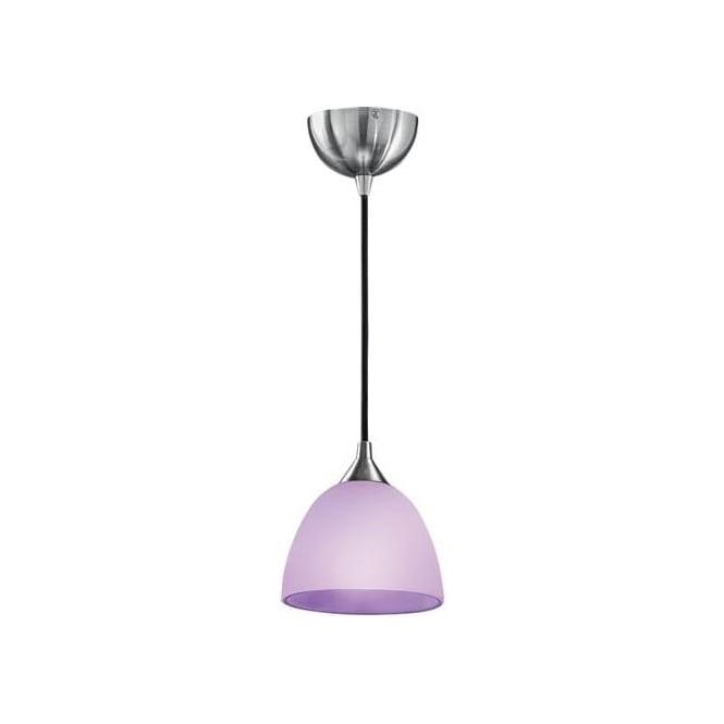 Franklite FL2290/1/949 Vetross 1 Light Ceiling Pendant White/Lilac