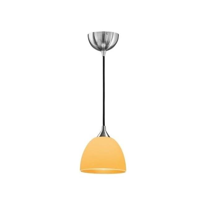 Franklite FL2290/1/937 Vetross 1 Light Ceiling Pendant White/Orange