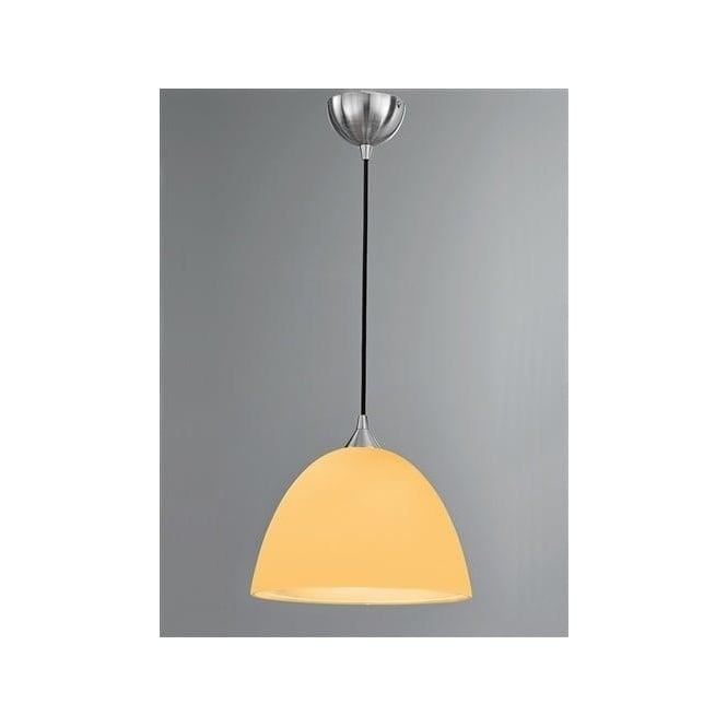Franklite FL2290/1/938 Vetross 1 Light Ceiling Pendant White/Orange