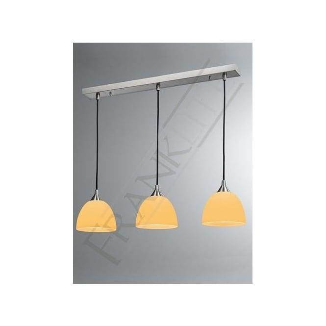 FL2290/3/937 Vetross 3 Light Ceiling Pendant White/Orange