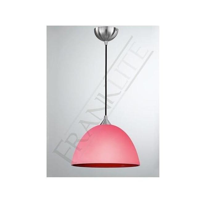 Franklite FL2290/1/947 Vetross 1 Light Ceiling Pendant White/Red