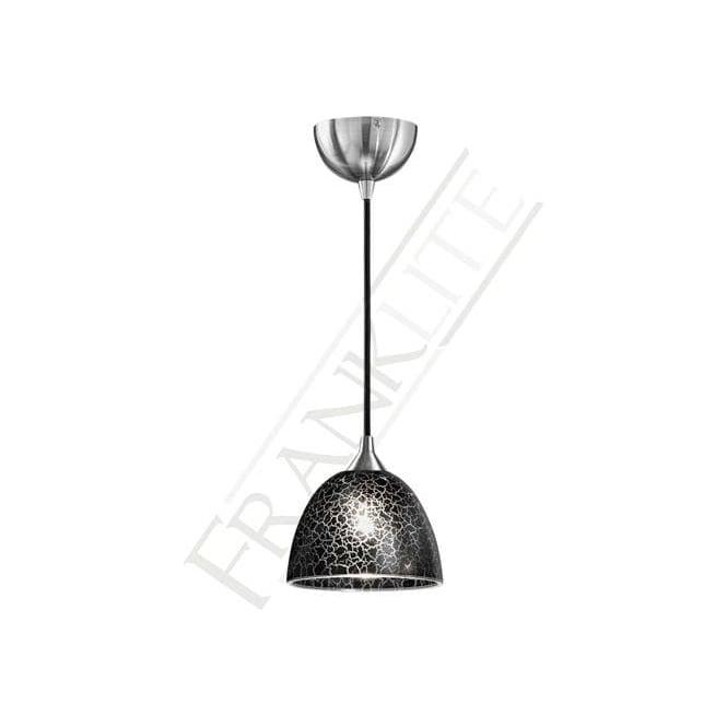 Franklite FL2290/1/952 Vetross 1 Light Ceiling Pendant Black Crackle