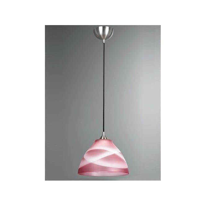 Franklite FL2290/1/905 Vetross 1 Light Ceiling Pendant Deep Rose