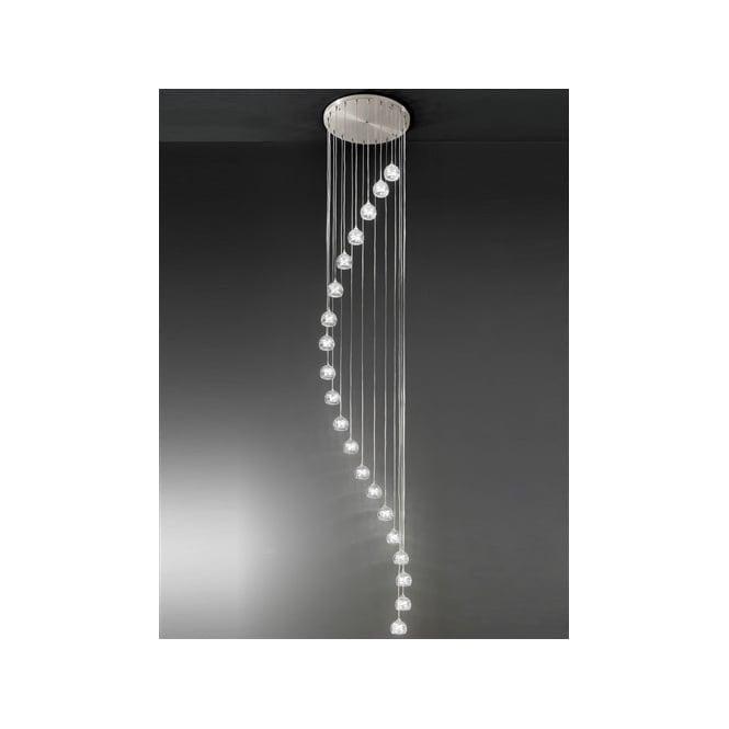 Franklite FL2300/20 Tierney 20 Light Ceiling Pendant Satin Nickel