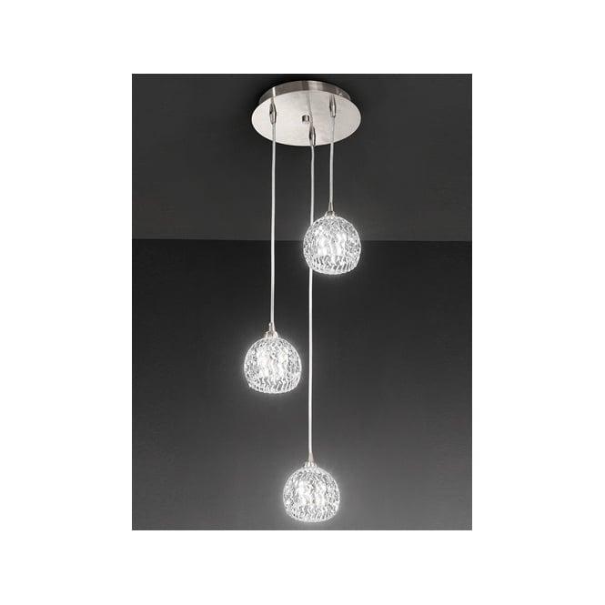 Franklite FL2300/3 Tierney 3 Light Ceiling Pendant Satin Nickel