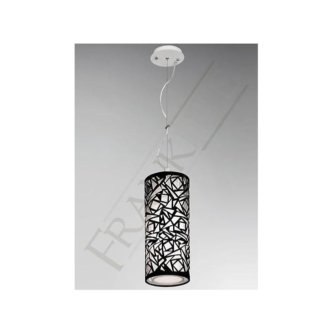 Franklite PCH109 Abstract 1 Light Ceiling Pendant Black/White