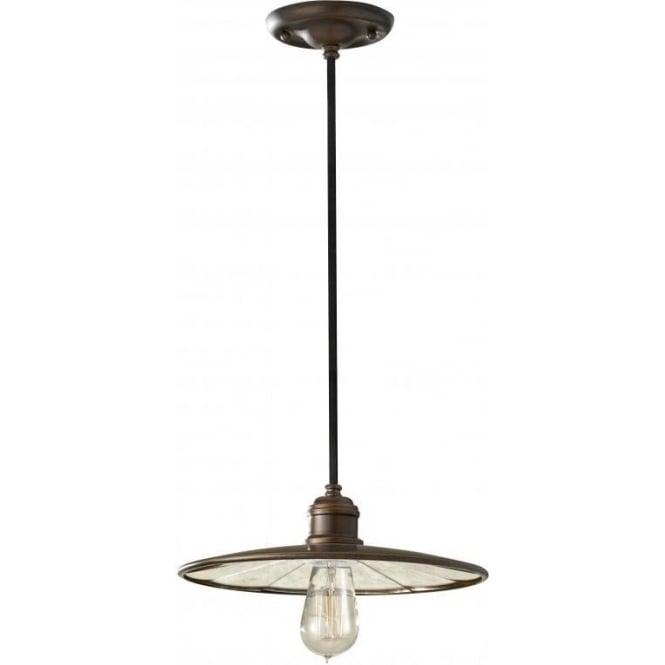 Elstead Lighting Feiss FE/URBANRWL/P/E Urban Renewal 1 Light Ceiling Pendant Astral Bronze