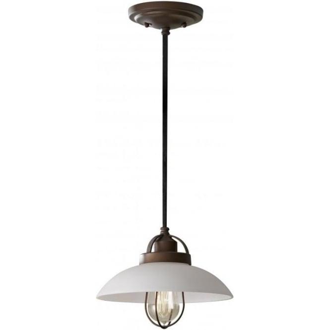 Elstead Lighting Feiss FE/URBANRWL/P/A Urban Renewal 1 Light Ceiling Pendant Bronze Patina