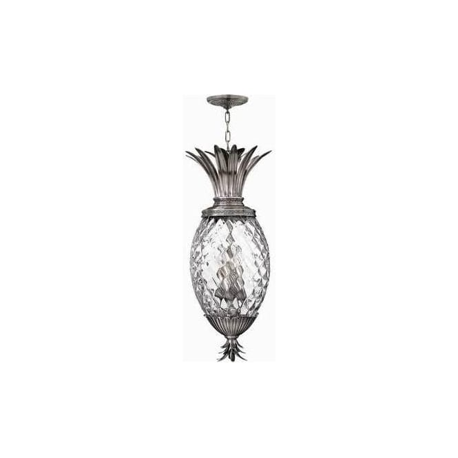Elstead Lighting Hinkley HK/PLANT4/P-PL Plantation 4 Light Ceiling Pendant Polished Antique Nickel