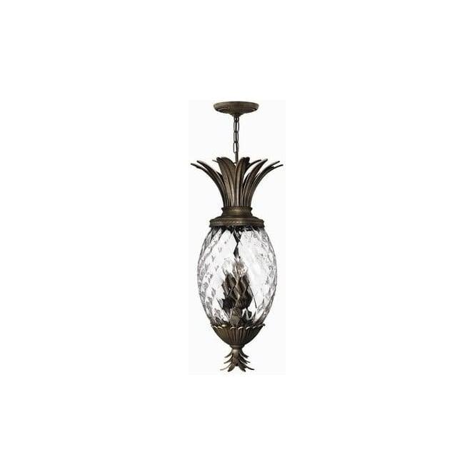 Elstead Lighting Hinkley HK/PLANT4/P-PZ Plantation 4 Light Ceiling Pendant Pearl Bronze