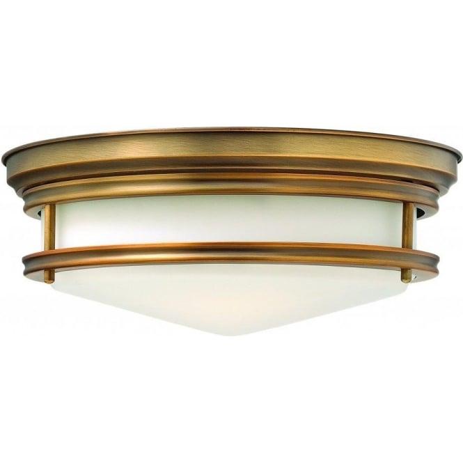 Elstead Lighting Hinkley HK/HADLEY/F/BR Hadley 3 Light Flush Ceiling Light Brushed Bronze