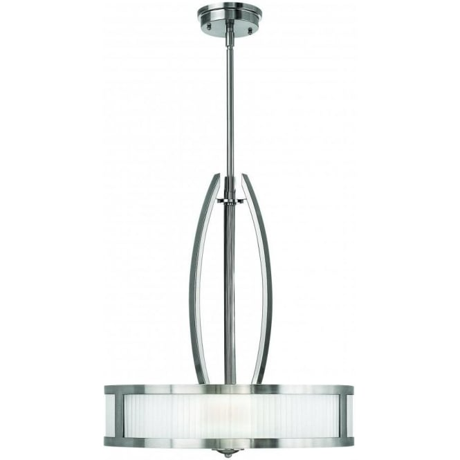 Elstead Hinkley HK/MERIDIAN/P Meridian 3 Light Ceiling Pendant Brushed Nickel