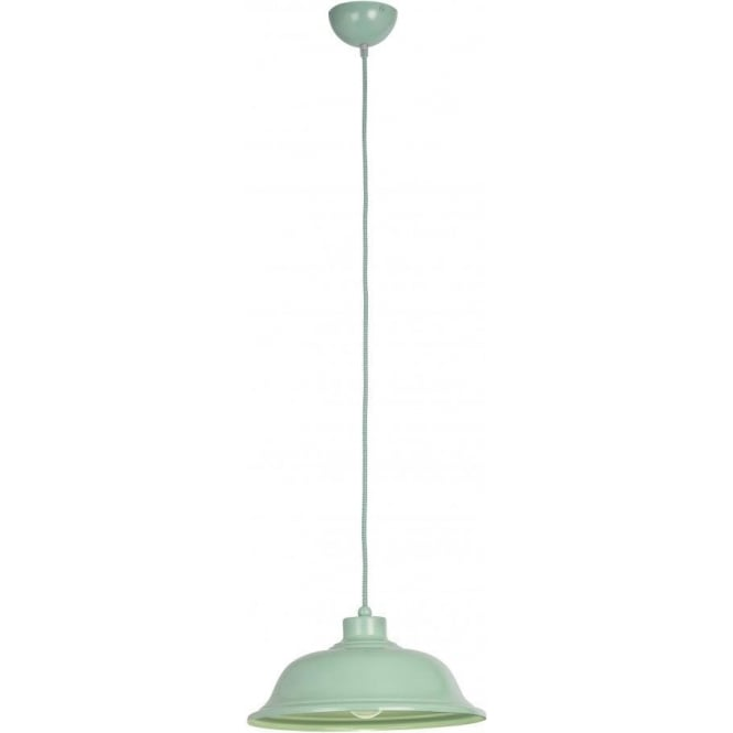 Endon LAUGHTON-GR Laughton 1 Light Ceiling Pendant Green