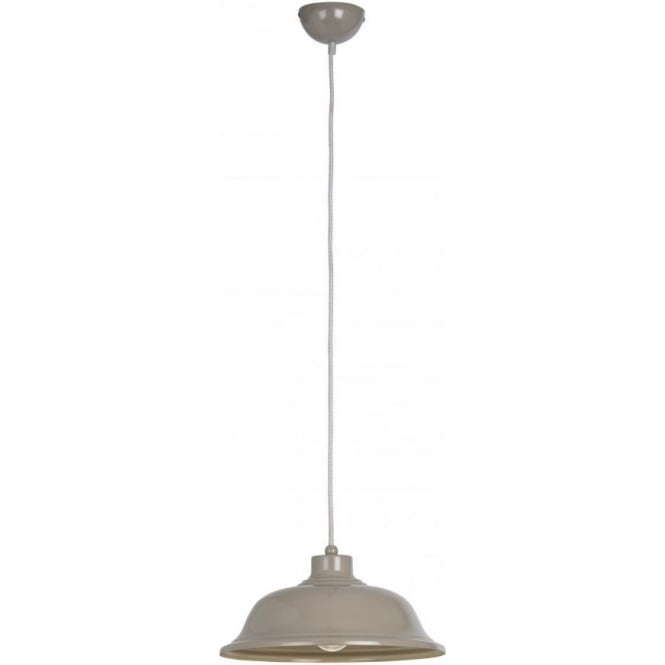 Endon LAUGHTON-GRY Laughton 1 Light Ceiling Pendant Grey