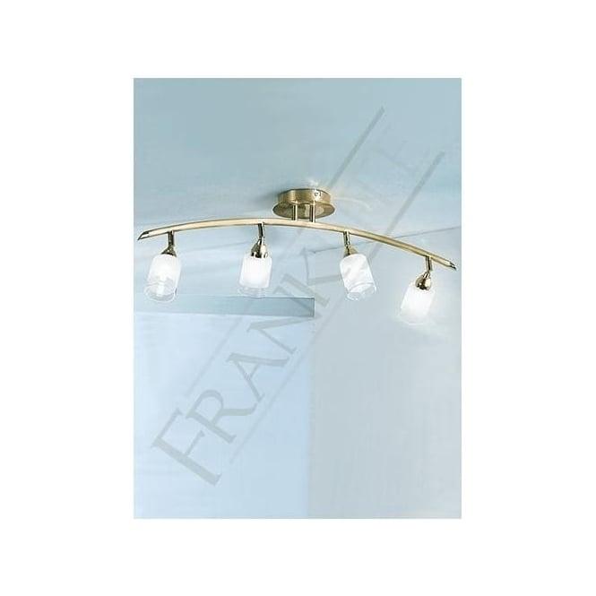 Franklite DP40014 Campani 4 Light Ceiling Spotlight Gold