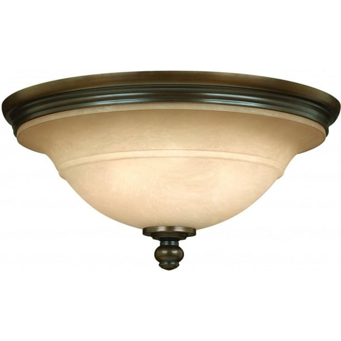 Elstead Hinkley HK/PLYMOUTH/F Plymouth 3 Light Ceiling Light Bronze