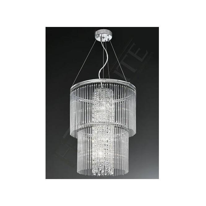 Franklite FL2310/4 Charisma 4 Light Crystal Ceiling Pendant Polished Chrome