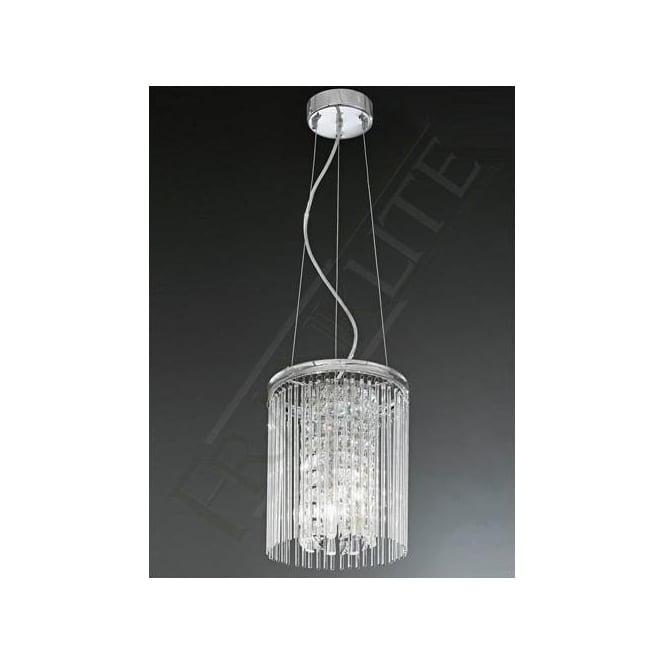 Franklite FL2310/3 Charisma 3 Light Crystal Ceiling Pendant Polished Chrome
