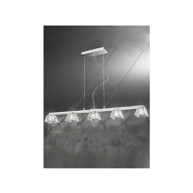 Franklite FL2302/5 Tableau 5 Light Ceiling Pendant Polished Chrome
