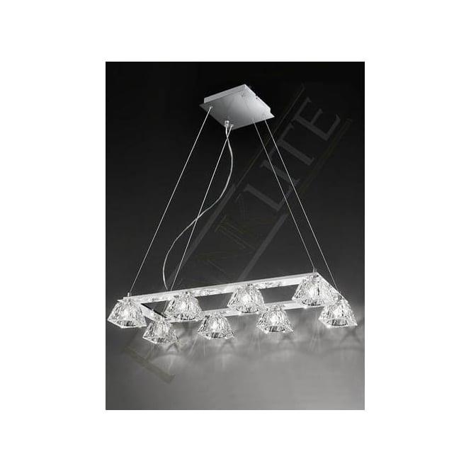 Franklite FL2302/8 Tableau 8 Light Ceiling Pendant Polished Chrome