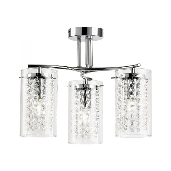Endon ALDA-3CH Alda 3 Light Ceiling Light Polished Chrome