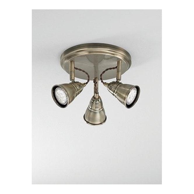 Franklite SPOT8953 Rustica 3 Light LED Ceiling Spotlight Bronze