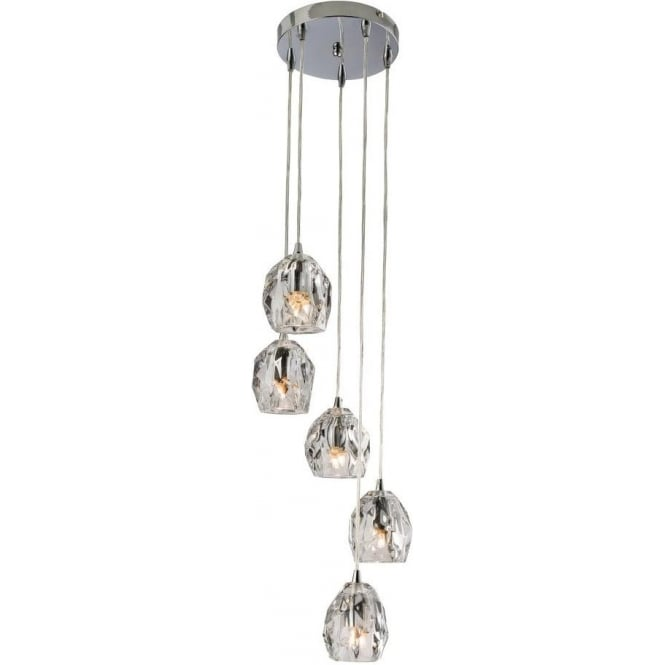 Endon 61193 Poitier 5 Light Ceiling Pendant Polished Chrome