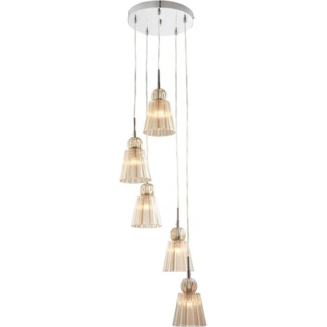 Endon 61200 Jannings 5 Light Ceiling Pendant Polished Chrome