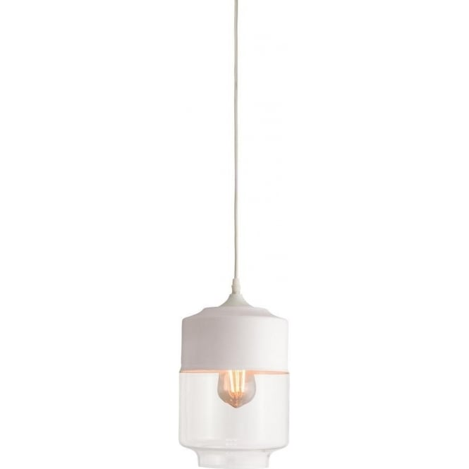 Endon 60184 Brody 1 Light Pendant White