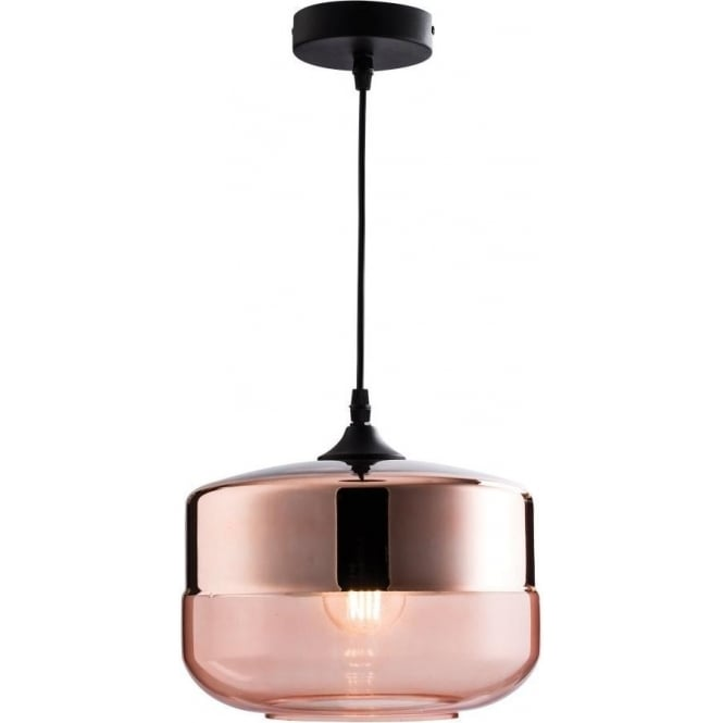 60182 Willis 1 Light Ceiling Pendant Copper