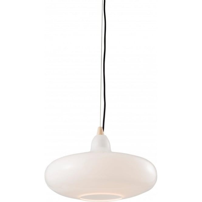 Endon 61505 Sampras 1 Light Ceiling Pendant White