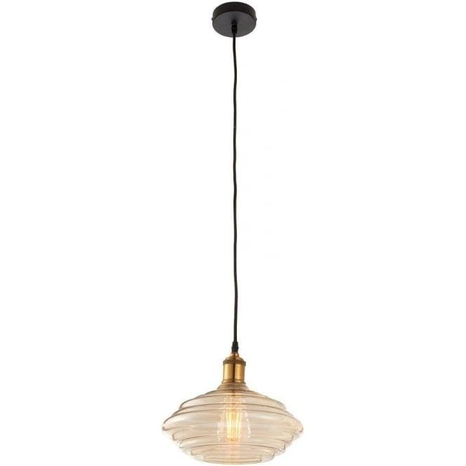 Endon 61356 Walker 1 Light Ceiling Pendant Antique Brass