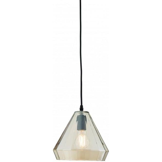 Endon 61502 Gibson 1 Light Small Ceiling Pendant Black