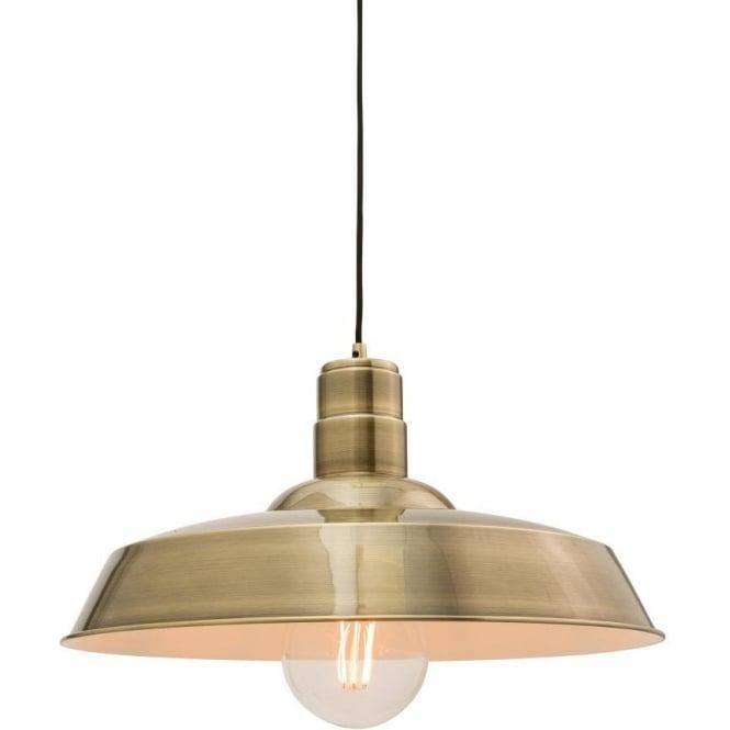Endon 61283 Moore 1 Light Ceiling Pendant Antique Brass
