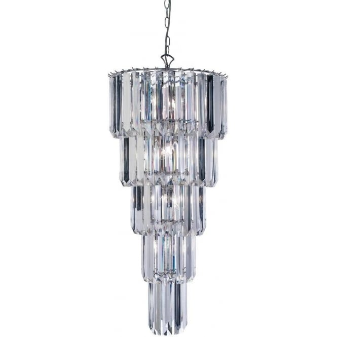 Endon 61123 Strasberg 9 Light Crystal Ceiling Pendant Polished Chrome