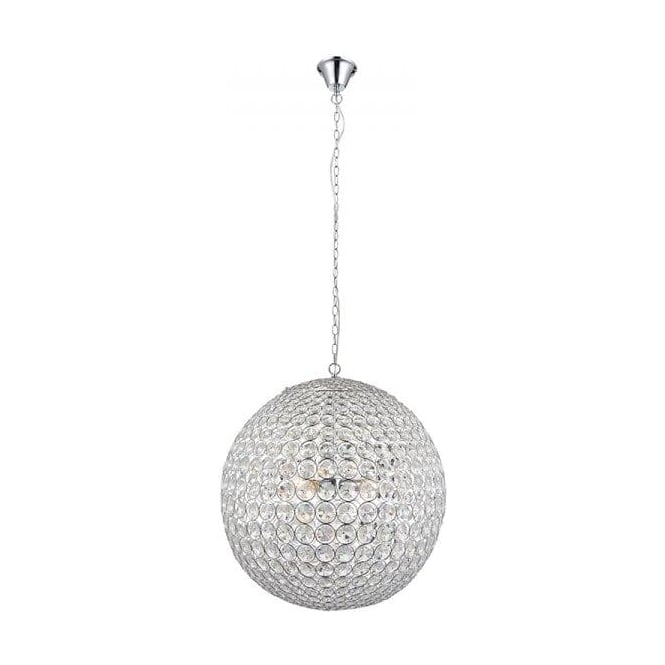 Endon 66190 Miley 4 Light Crystal Ceiling Pendant Polished Chrome