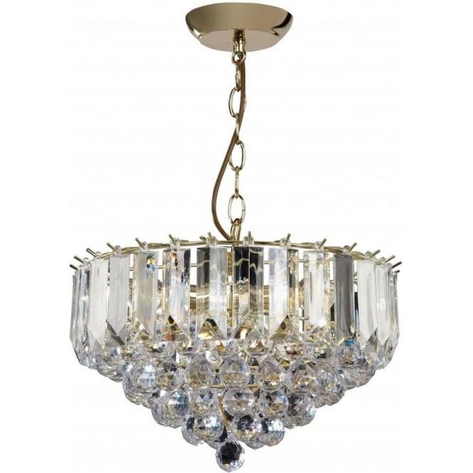 Endon FARGO-14BP 3 Light Modern Ceiling Light Brass Plated Finish (Large)