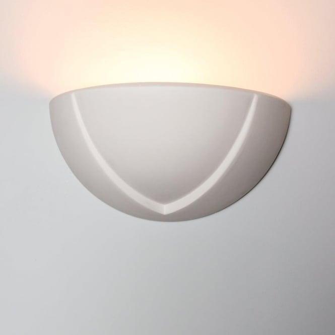 Alfie Lighting 0275LIT Little Ayton 1 Light Gypsum Matt White Wall Light
