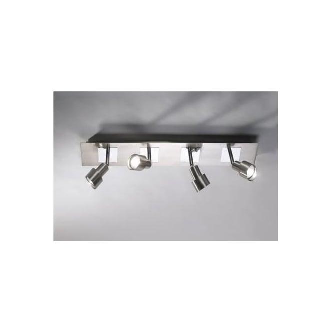 Dar FUT8446 Futura 4 light ceiling spotlight polished mirror chrome and satin chrome