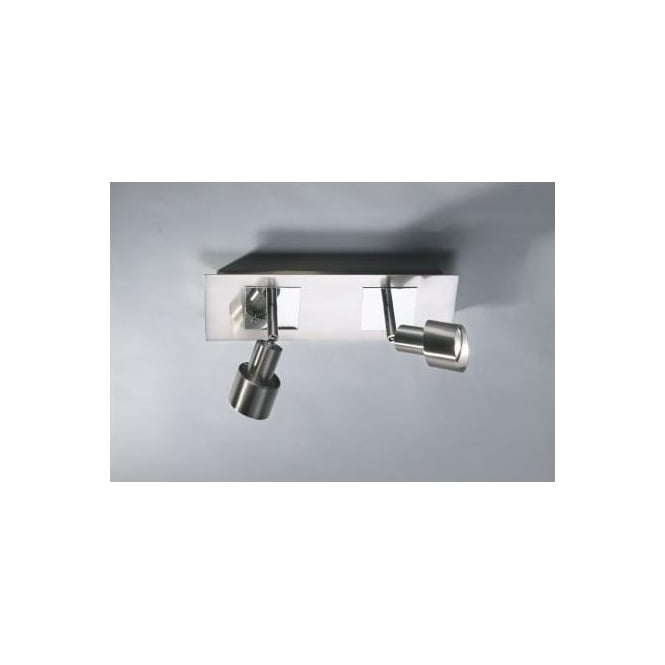 Dar FUT7746 Futura 2 light ceiling spotlight polished mirror chrome satin chrome