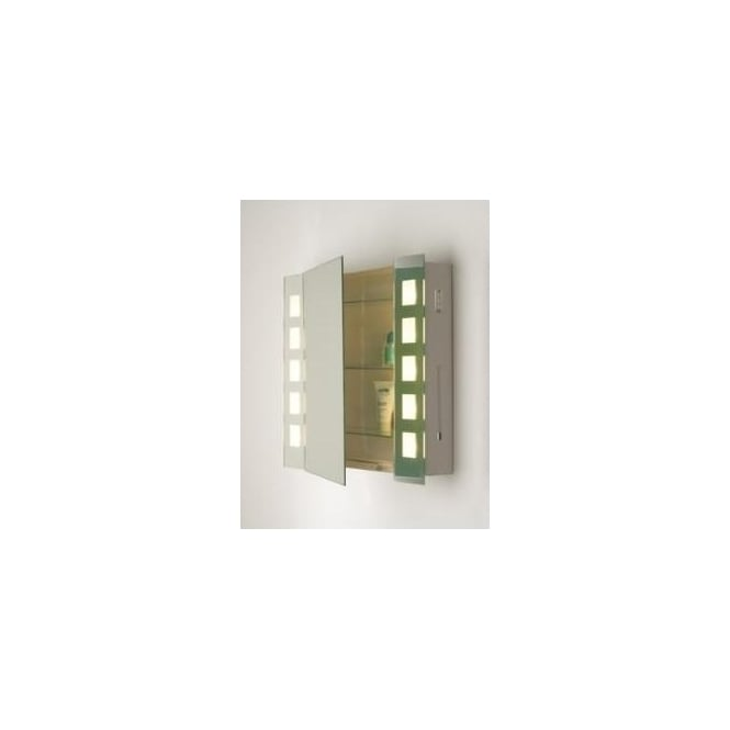 Dar ZEN99 Zenia 10 light modern bathroom mirror cabinet light IP21 rated shaver socket switched