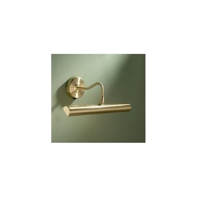Dar ONE6741 Onedin 2 light traditional picture light on/off rocker switch satin brass finish