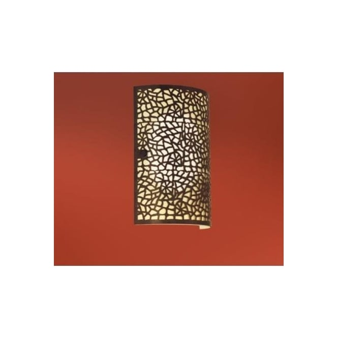 Eglo 89115 Almera 1 light modern wall light champagne glass antique brown finish