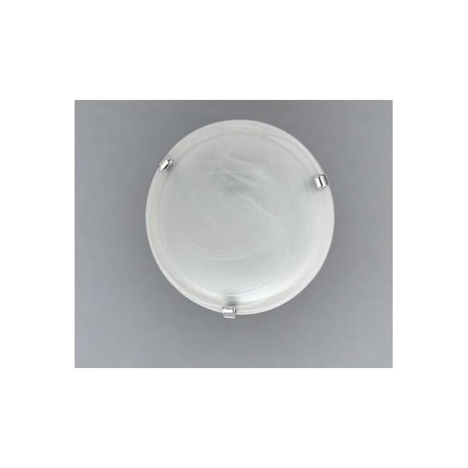 Eglo 7184 Salome 2 light traditional flush ceiling light alabaster glass chrome finish large