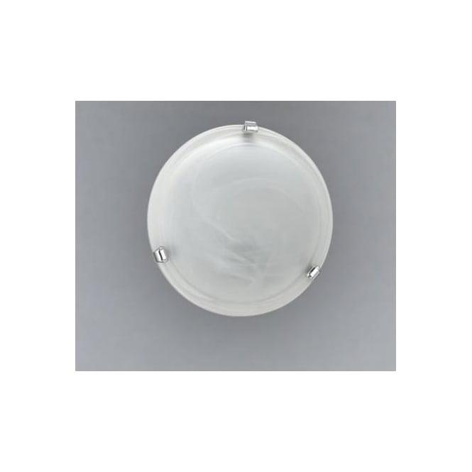Eglo 7186 Salome 1 light traditional flush ceiling light alabaster glass chrome finish small
